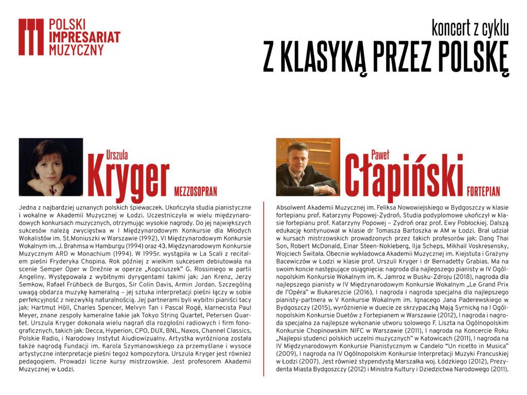 biografie artystow 1024x768 - Koncert z cyklu z klasyką przez Polskę