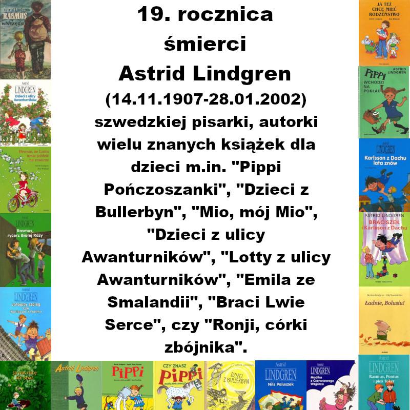 Lindgren2021 - 19. rocznica śmierci Astrid Lindgren