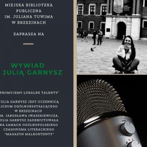 Spotkanie on-line z Julią Garnysz