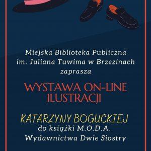 """Wystawa on-line ilustracji Katarzyny Boguckiej do książki """"M.O.D.A."""" Wydawnictwa Dwie Siostry"""