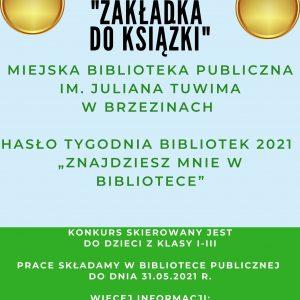 Konkurs dla dzieci z okazji Tygodnia Bibliotek
